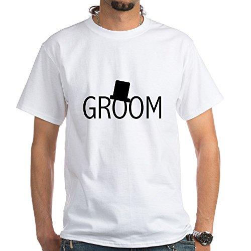 CafePress Top Hat Groom - 100% Cotton T-Shirt, White