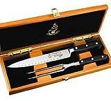 Messermeister Meridian Elite - Kullenschliff Carving Set in Wood Gift Box