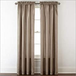 Royal Velvet Plaza Interlined Rod-Pocket Curtain Panel 50