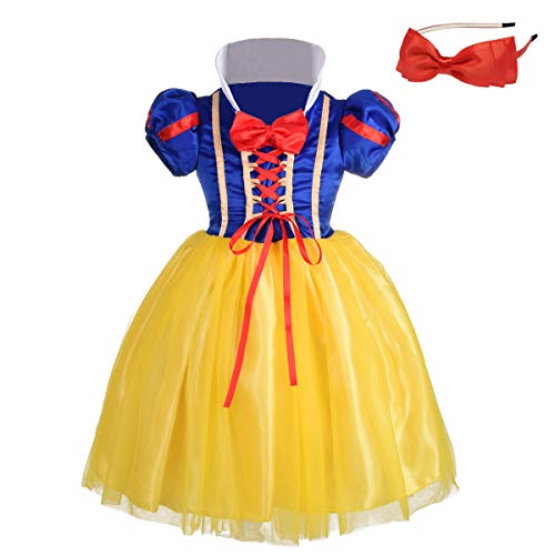 Lito Angels Baby-Girls' Princess Snow White Costume Fancy Dresses up Halloween Outfit with Headband Size 12-18 -