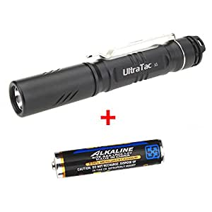 GranVela A5 keychain Flashlight 210 Lumens CREE LED , IPX-8 Water Resistant, Mini-Sized Torch Light with 3 Light Modes and Single AAA Battery Included for a Variety of Applications