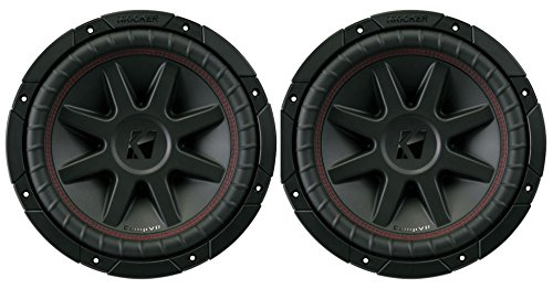 2) Kicker 700 Watt 10 Inch CompVR 2 Ohm SubwooferS Car Power Subs | 43CVR102