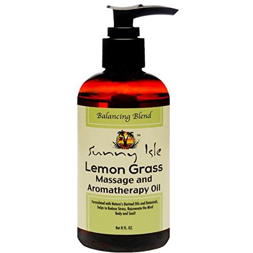 Blend Aromatherapy Balancing (Sunny Isle Jamaican Black Castor & LEMON GRASS Massage and Aromatherapy Oil - Balancing Blend 8oz)