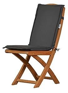 Kai Wiechmann - Cojín con respaldo para silla plegable de respaldo bajo, dralon de 4 cm de grosor, acolchado