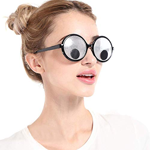 Googly Eyes Glasses, Funny Googly Eyes Goggles Shaking Party Glasses Toys Novelty Shades Funny Costume Accessories for Party Favor -