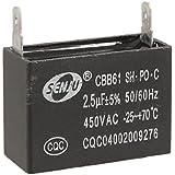 DealMux Deckenventilator Kondensator CBB61 2.5uf 450VAC: Amazon.de ...