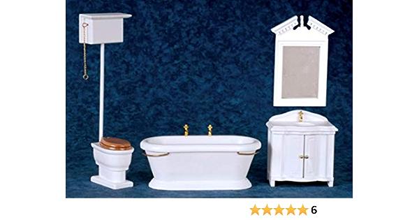 2pcs 1//12 Scale Dollhouse Metal Bath Shower Head Bathroom Furniture Accessories