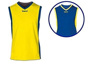 Luanvi - Camiseta Team Reversible 05127/05125, Amarillo/Royal, M