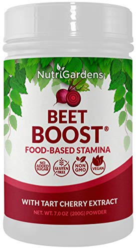 BEET BOOST® Beetroot Powder with Tart Cherry Powder. Natural Nitric Oxide Booster. Effective and Tasty Beet Juice Powder for Sports and Health.