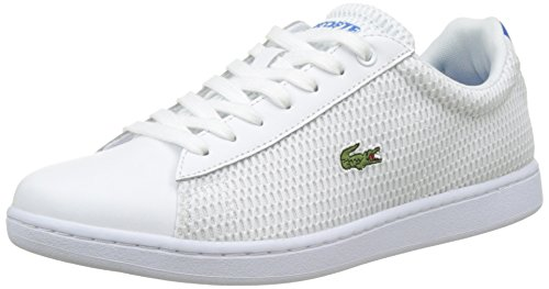 Lacoste Carnaby Evo 217 1, Bajos Mujer Blanco (Blanc)