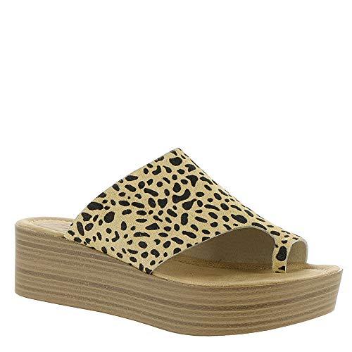 - Blowfish Womens Laslett Mule (7 B(M) US, Tan Leopard Calf Hair)