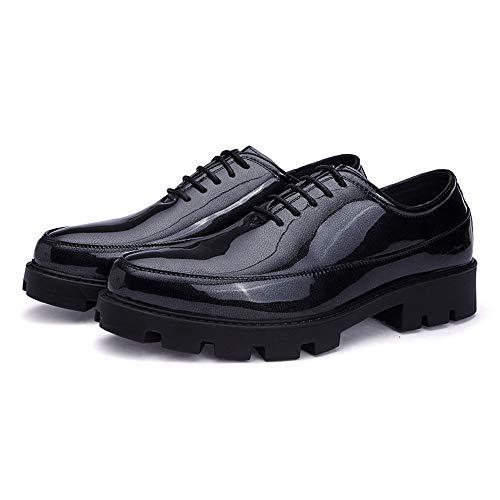 Transpirable Negro Ocasionales tamaño Zapatos de Hombres Patente y de Cuero Informales Color para Informal Poliuretano de EU Oxford cómodo 42 de Jusheng Negro Moda de USvSq