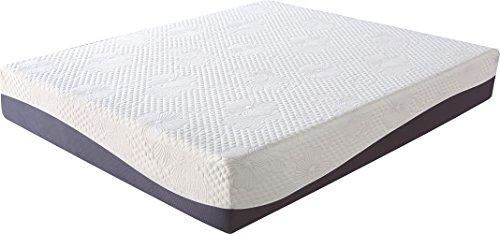 Olee Sleep 10 Inch Grey I Gel Layer Top Memory Foam Mattress 10FM02Q