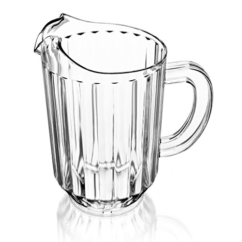 (New Star Foodservice 46106 Polycarbonate Plastic Restaurant Water Pitcher, 60-Ounce, Clear)