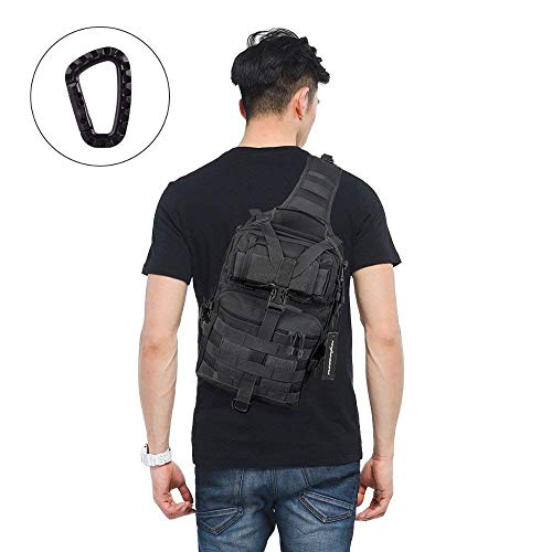 e3f8f1b649 FUNANASUN Tactical Sling Backpack Bag Military Molle Assault Pack Rucksack  Daypack for Outdoors Camping Hiking Hunting