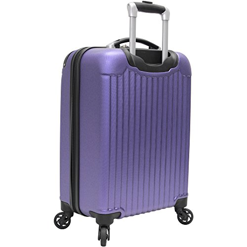 Verdi Luggage Carry On 20 inch ABS Hard Case Rolling Suitcase With Spinner Wheels (Purple)