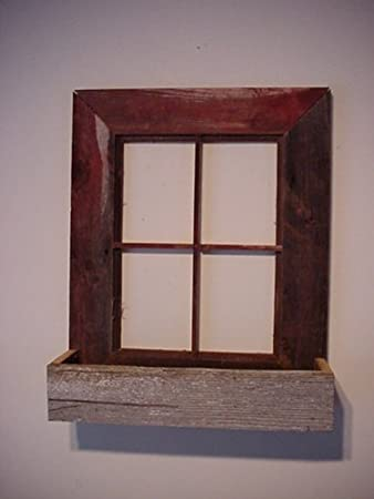 amish country collectible handmade barn wood window frame flower box planter decoration home and garden primitive