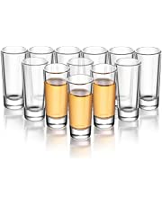 ELIVIA Shot Glass Set with Heavy Base, 1.2 oz (12 Pack ) Clear Glasses for Whiskey and Liqueurs - JM02