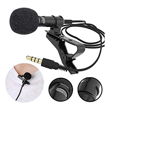 Digital Noise Cancellation Clip Collar Mic Condenser for YouTube Video | Voice Recording Filter Mic for Recording Singing YouTube on Smartphoness | Travel Videos Mike | YouTube mic for Smartphone