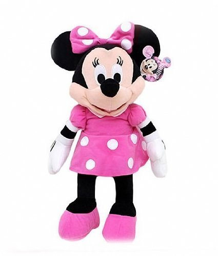 "Disney Mickey Mouse Clubhouse - Minnie Mouse 15"" Inch Plush w/ Pink Dress and Bow from Disney"