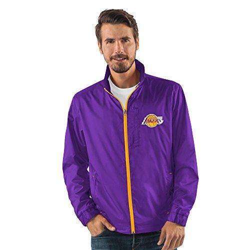 rs Men's Breaker Full Zip Jacket, X-Large, Purple (Lakers Jackets)