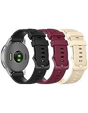 Bexido Horlogeband, compatibel met Garmin Venu 2S/Vivoactive 4S/Vivomove 3S, 18mm Quick Release Zachte Siliconen Sport Polsband Vervanging Band, Smart Watch Accessoires