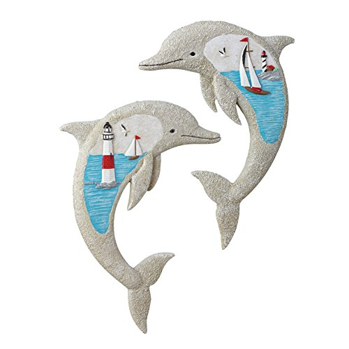 Nautical Beach Dolphins Wall Art