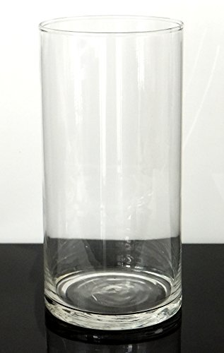 Galleon 8 Tall X 4 Wide Cylinder Flower Vase Thin Clear Glass