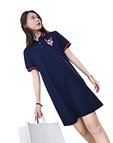 PRADRD レディース テニスウェア 刺繍 Tシャツ 半袖ゲームシャツ ワンピース スポーツウェア 運動着 ゴルフウェア 体型カバー可愛い ジャージ カジュアル