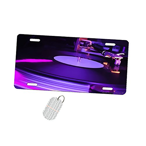 Dj Turntable Record   Car Tag License Plate By New Vibe