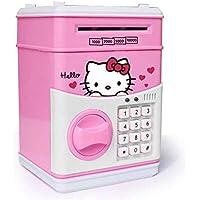 صندوق ذكي كبير لحفظ وسحب النقود بتصميم كيتي مع لوحة لادخال كلمة السر