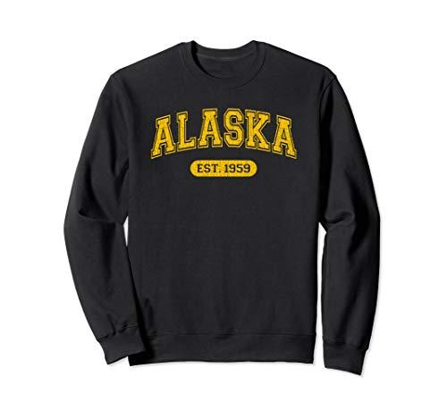 Alaska 1959 Retro School-font Sweatshirt