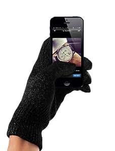 Mujjo - Guantes para pantallas táctiles de iPhone y otros smartphones (talla S/M), color gris oscuro