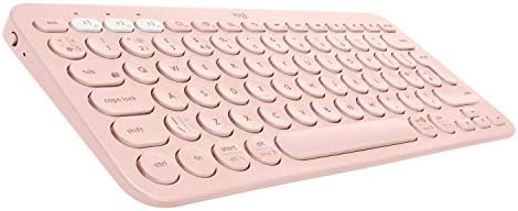 Logitech K380 Wireless Multi-Device Bluetooth Keyboard for Windows, Apple iOS, Apple TV, Android or Chrome, for PC/Mac/Laptop/Smartphone/Tablet(Rose)
