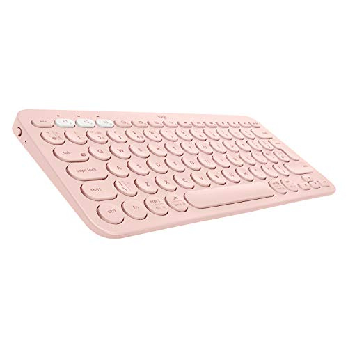 Logitech K380 Multi Device Bluetooth Minimalist Keyboard Lightweight Rose
