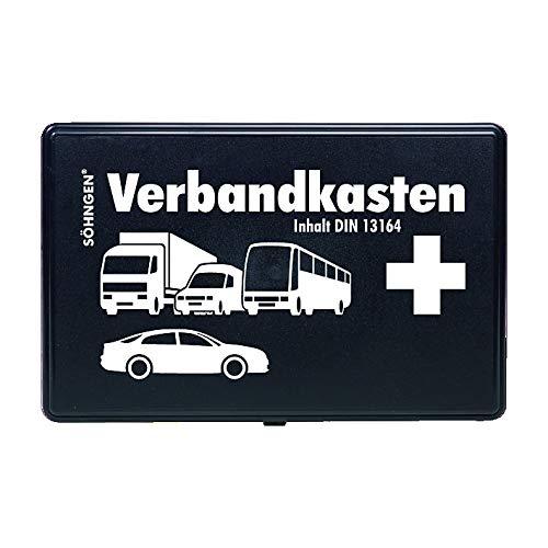 Söhngen Auto verbanddoos (met vulling, zwart, koffer van ABS kunststof) 260x160x80 mm, 3004002