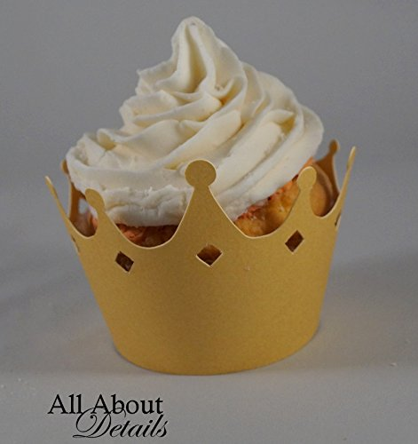 All About Details Shimmer Gold Crown Cupcake Wrappers, Set o