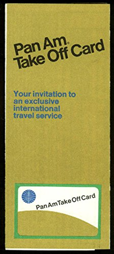 Pan Am Pan American World Airways Take Off airline Credit Card application 1970 ()