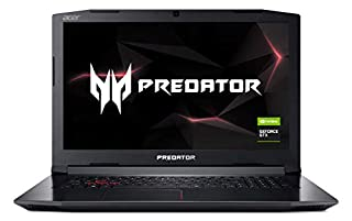 "Acer Predator Helios 300 PH317-52-77A4 Gaming Laptop, Intel Core i7-8750H, GeForce GTX 1060 Overclockable Graphics, 17.3"" 144Hz Full HD, 16GB DDR4, 256GB PCIe NVMe SSD, 1TB HDD, VR Ready (B07D1H521Q) 