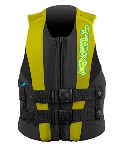 O'Neill Wetsuits Wake Waterski Child USCG Life Vest, Col/Yel