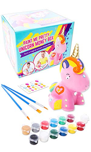Unicorn Gifts for Girls, Unicorn Craft, Paint Your Own Unicorn Money Box - Great Birthday Present Idea for Girls of All Ages. -