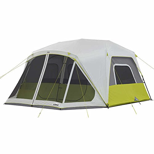 CORE 10-person Instant 2-minute Setup Cabin Tent with Screen Room & It's Fully Taped Rainfly by CORE