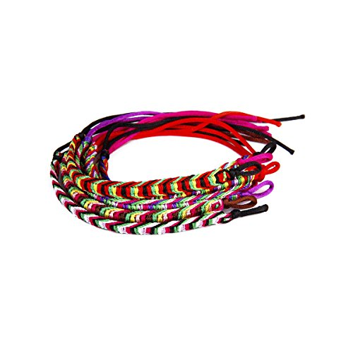 ROSENICE Handmade Friendship Bracelets Braided Bracelets Rope Bracelet,9pcs (Random Color)