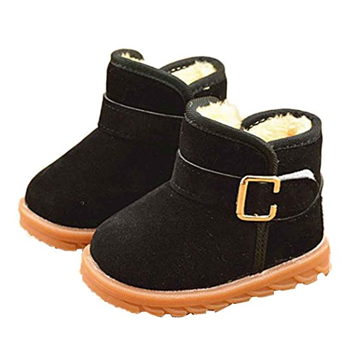 Price comparison product image DaySeventh Winter Kids Child Cotton Boot Warm Snow Boots Shoes (1-2,  Black)