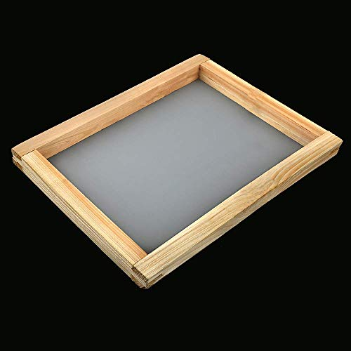 Saio™ Screen Printing Frame with mesh/Screen Print mesh Frame Wooden A3 Size (12 * 15 Inches)