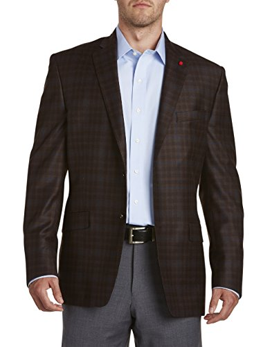 TailoRED Big and Tall Plaid Deco Sport Coat