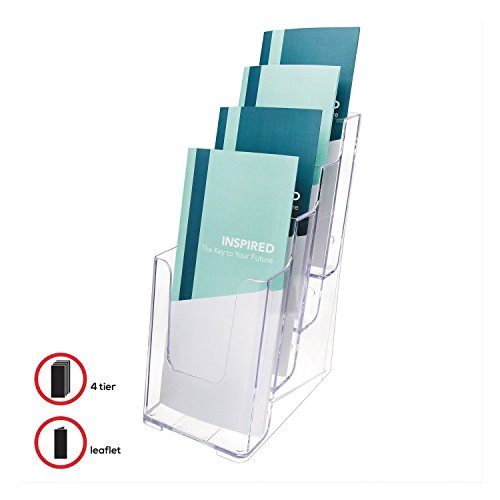(Deflecto 77701 Four-tier multi-compartment small size docuholder (Clear, 2))