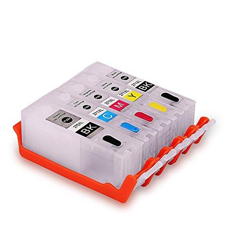 INKOA (TM) Refillable Edible Cleaning Cartridges for PGI-270/CLI-271 (5-Pack) Compatible with PIXMA MG6820, MG6821, MG6822, MG5720, MG5721, MG5722, TS5020, TS6020 Printers by INKOA