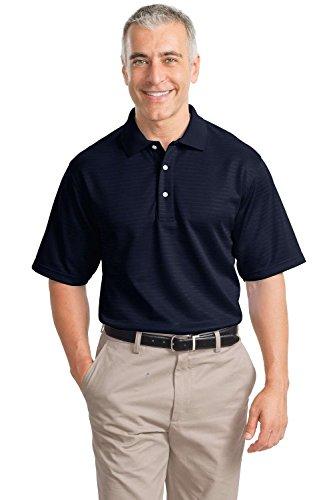 Port Authority Signature - Shadow Stripe Interlock Polo Sport Shirt. K459 - Medium - Navy