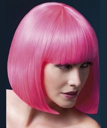 Sexy Neon Pink Wig]()